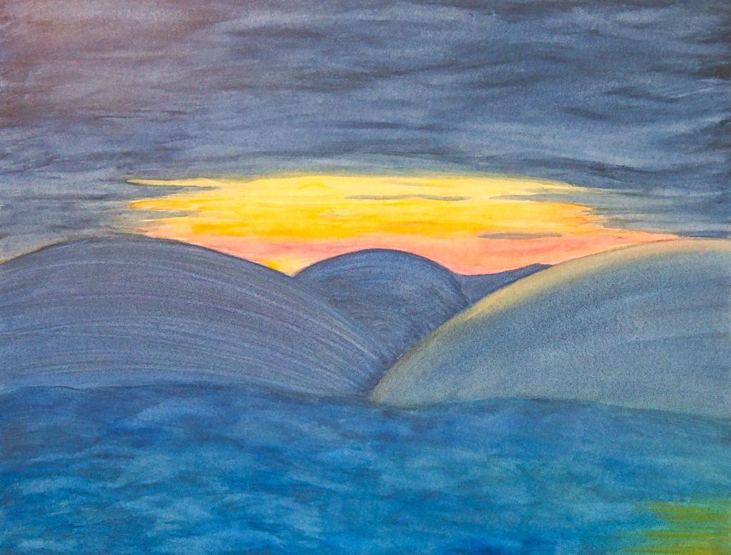 Berge, Sonne, Meer